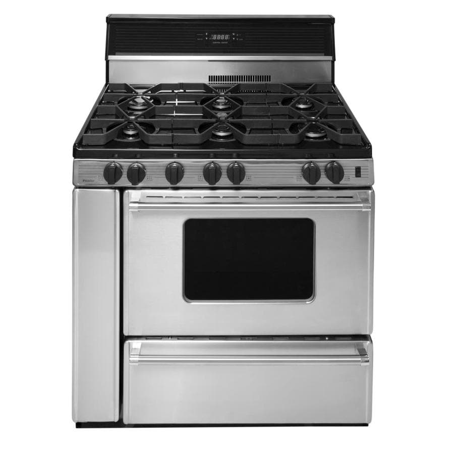 Premier 6-Burner Freestanding 3.9-cu ft Gas Range (Stainless) (Common: 36-in; Actual: 36-in)