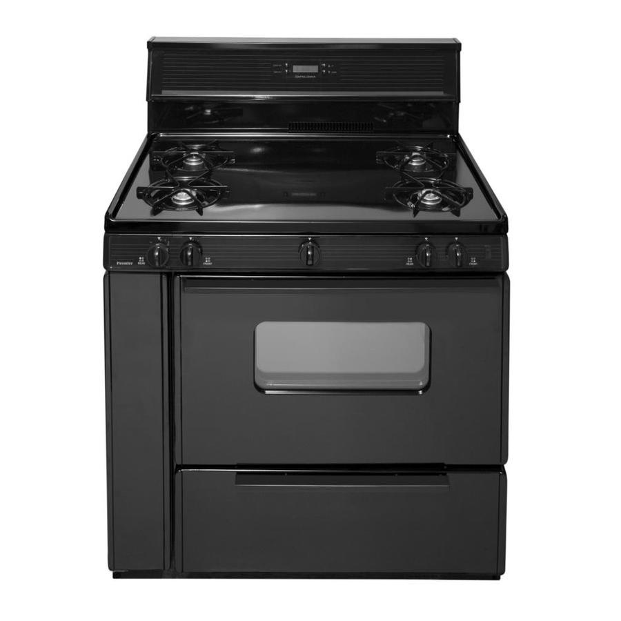 Premier 4-Burner Freestanding 3.9-cu ft  Gas Range (Black) (Common: 36-in; Actual: 36-in)