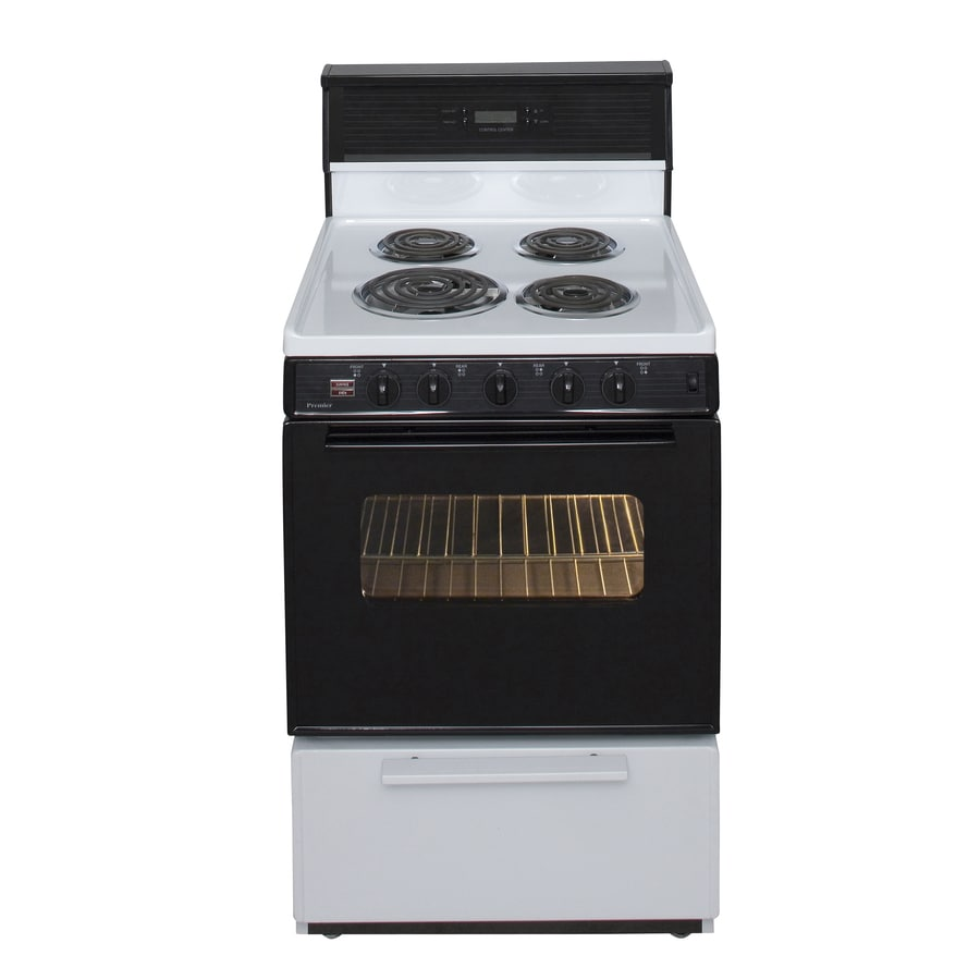 Premier Freestanding 2.9-cu ft Electric Range (White/Black) (Common: 24-in; Actual: 24-in)