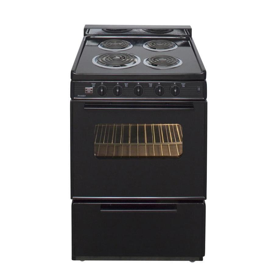 Premier Freestanding 2.9-cu ft  Electric Range (Black) (Common: 24-in; Actual: 24-in)