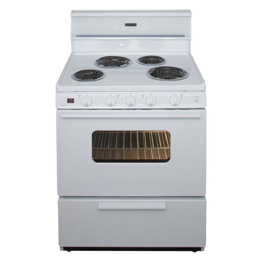 Premier Freestanding 4-Element 3.9-cu ft  Electric Range (White) (Common: 30-in; Actual: 30-in)