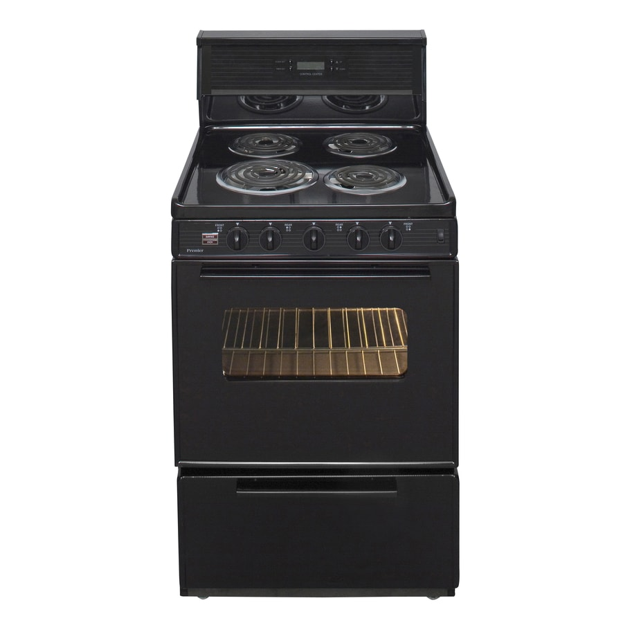 Premier Freestanding 2.9-cu ft Electric Range (Black) (Common: 24-in; Actual: 24-in)