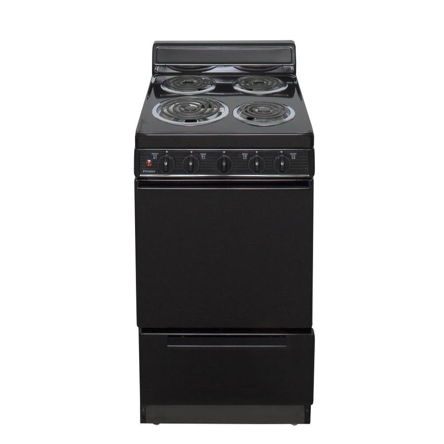 20 Electric Range >> Premier 2.4-cu ft Freestanding Electric Range (Black