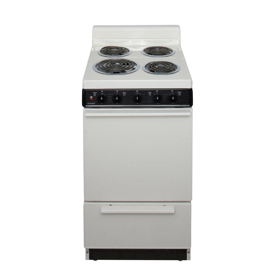 Premier Freestanding 2.4-cu ft Electric Range (Biscuit) (Common: 20-in; Actual: 20.12-in)