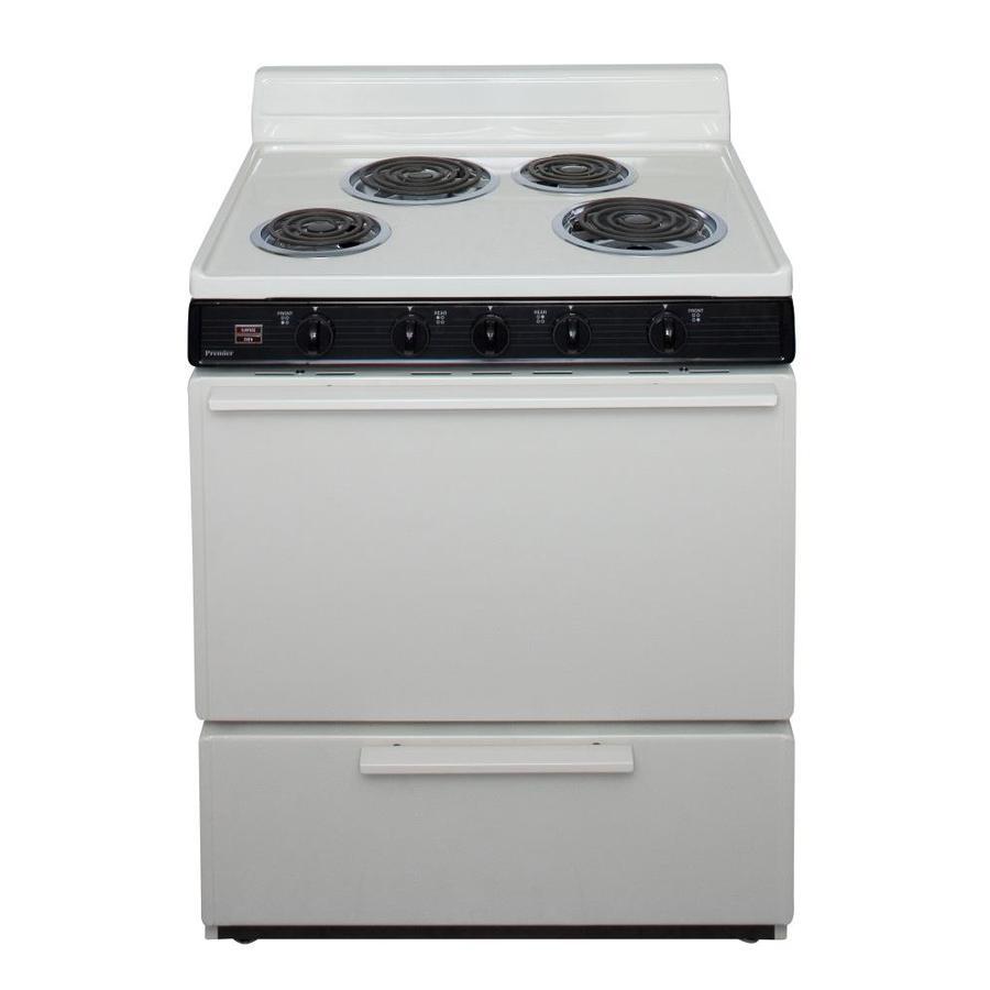 Premier Freestanding 3.9-cu ft Electric Range (Biscuit) (Common: 30-in; Actual: 30-in)