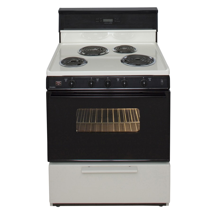 Premier Freestanding 3.9-cu ft Electric Range (Biscuit/Black) (Common: 30-in; Actual: 30-in)