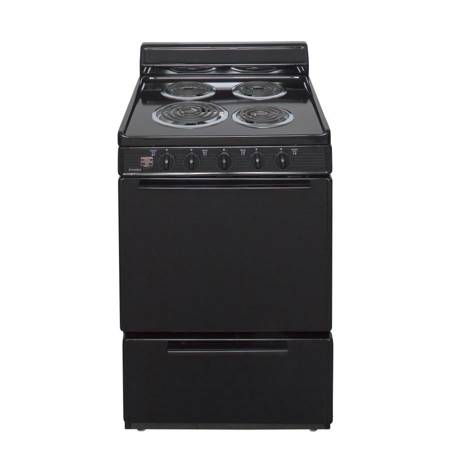 premier 2 9 cu ft freestanding electric range black common 24 in actual 24 in at. Black Bedroom Furniture Sets. Home Design Ideas