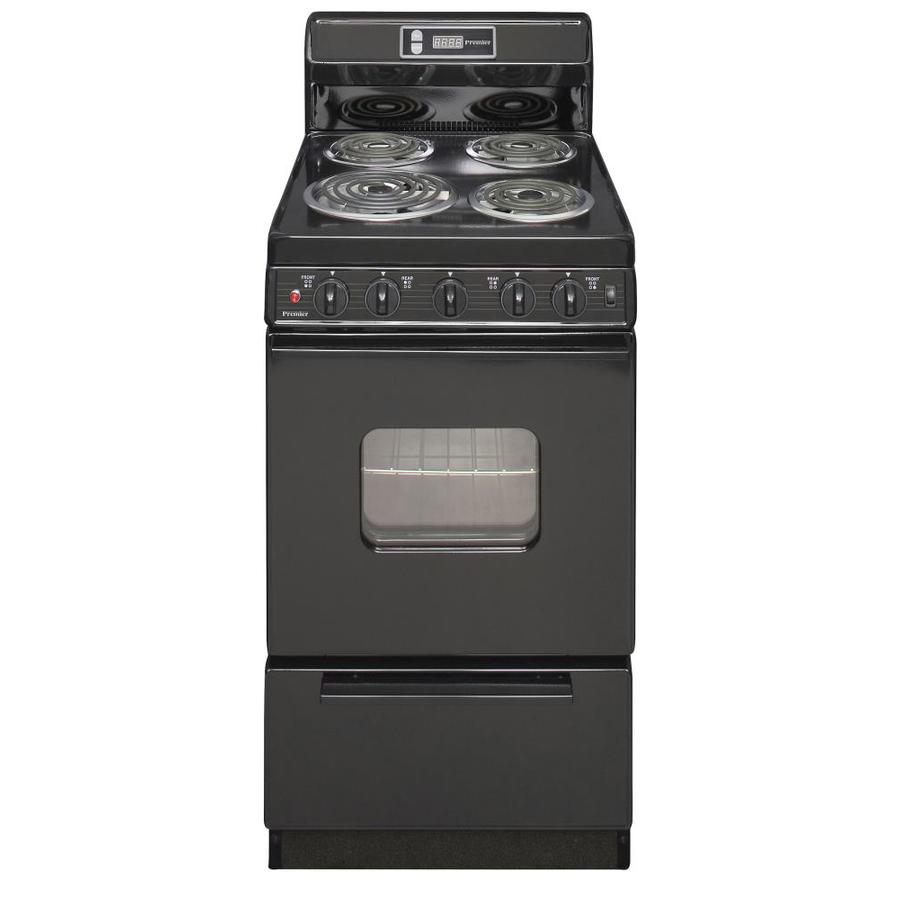 shop premier freestanding 2 4 cu ft electric range black