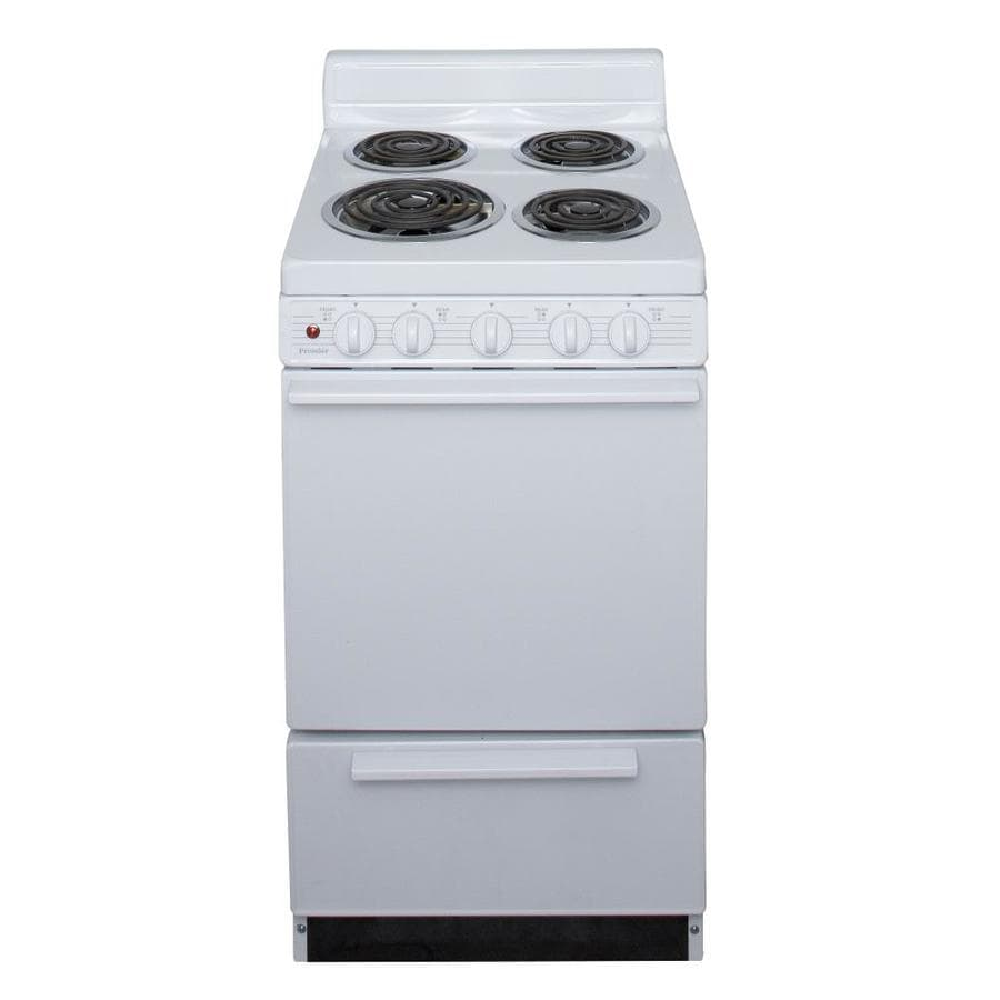 shop premier freestanding 2 4 cu ft electric range white