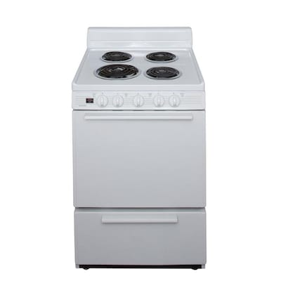 2.9-cu ft Freestanding Electric Range (White) (Common: 24-in; Actual: 24-in)