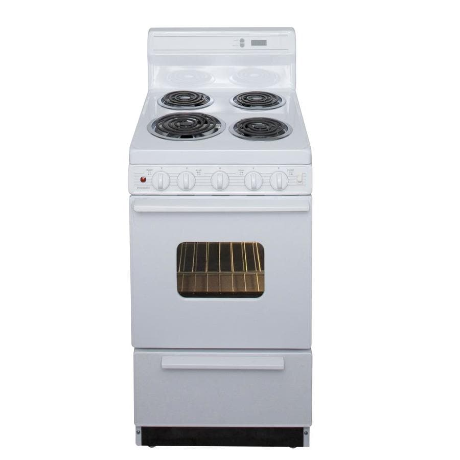 Premier Freestanding 2.4-cu ft Electric Range (White) (Common: 20-in; Actual: 20.125-in)