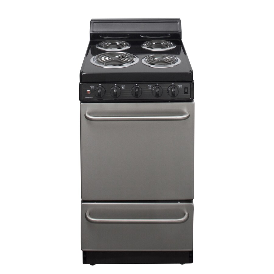 Premier Freestanding 2.4-cu ft Electric Range (Stainless Steel) (Common: 20-in; Actual: 20.12-in)