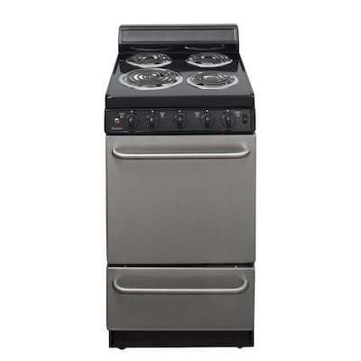 2.4-cu ft Freestanding Electric Range (Stainless Steel) (Common: 20-in;  Actual: 20.125-in)