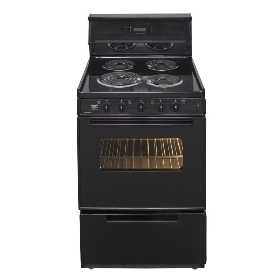 Premier 2.9-cu Ft Freestanding Electric Range (Black