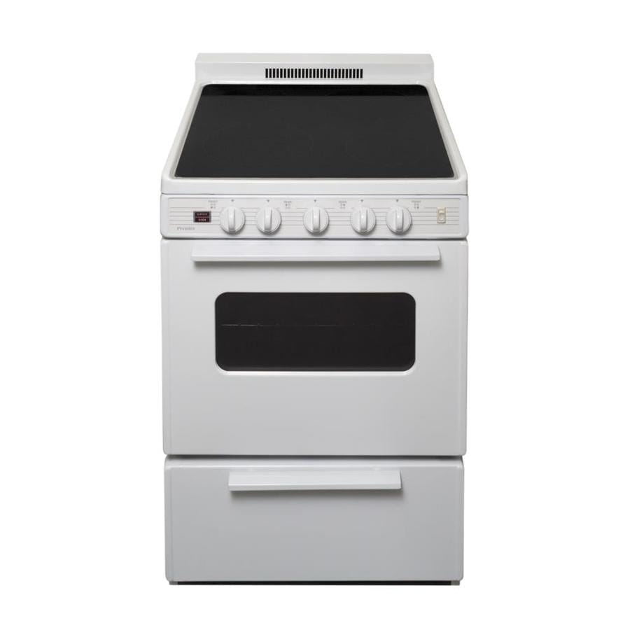 Premier Smooth Surface Freestanding 2.9-cu ft Electric Range (White On White) (Common: 24 Inch; Actual: 24-in)