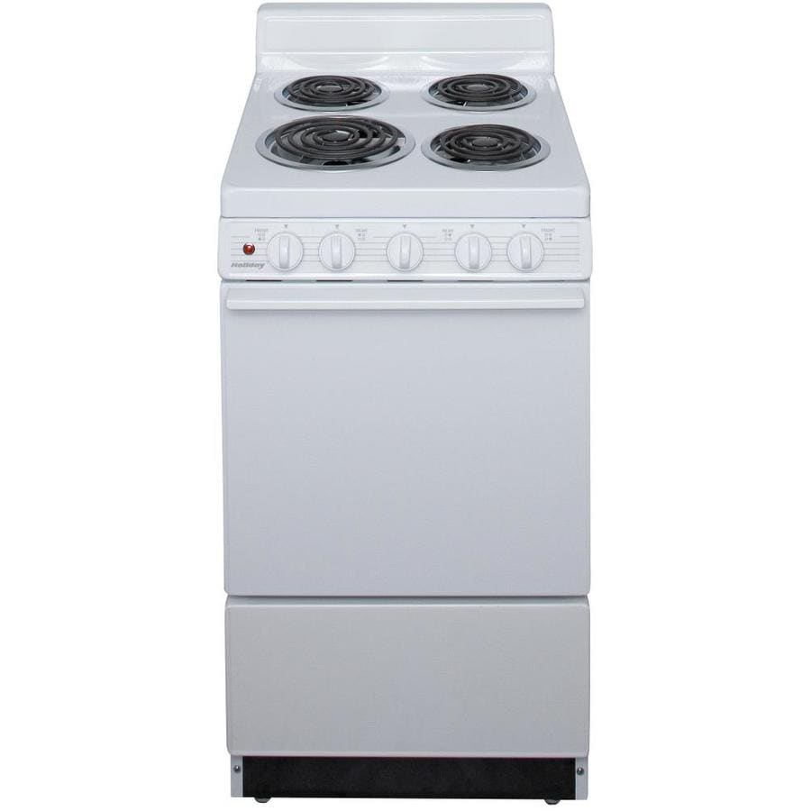 Holiday Freestanding 2.4-cu ft Electric Range (White) (Common: 20-in; Actual: 20.12-in)