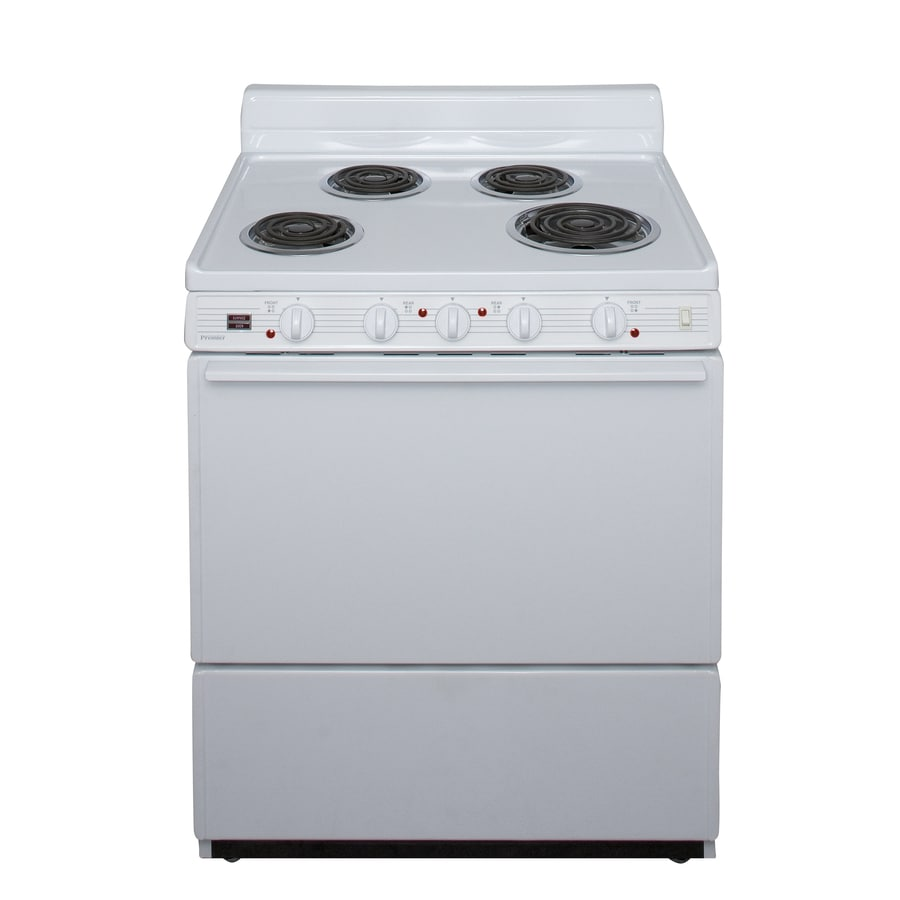 Premier Freestanding 3.9-cu ft Electric Range (White) (Common: 30-in; Actual: 30-in)