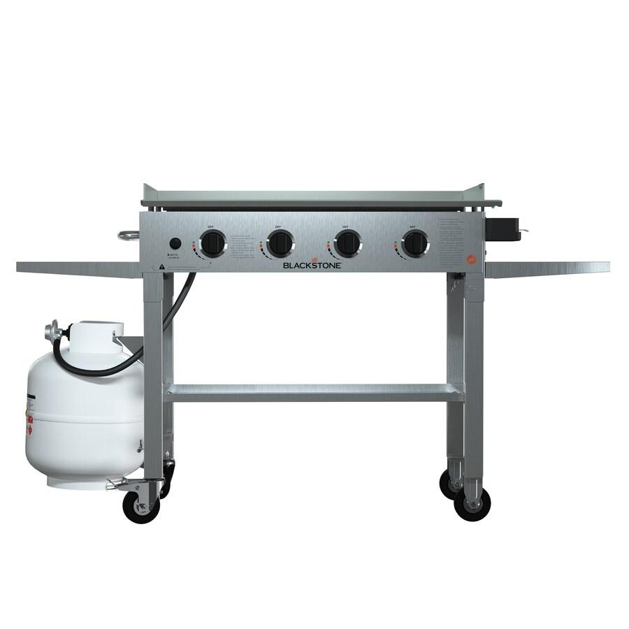 shop blackstone stainless steel 4 burner liquid propane gas grill