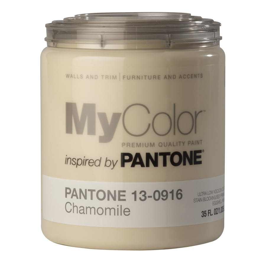 MyColor inspired by PANTONE 35-fl oz Interior Eggshell Chamomile Water-Base Paint and Primer in One