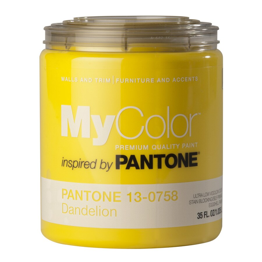 MyColor inspired by PANTONE 35-fl oz Interior Eggshell Dandelion Water-Base Paint and Primer in One