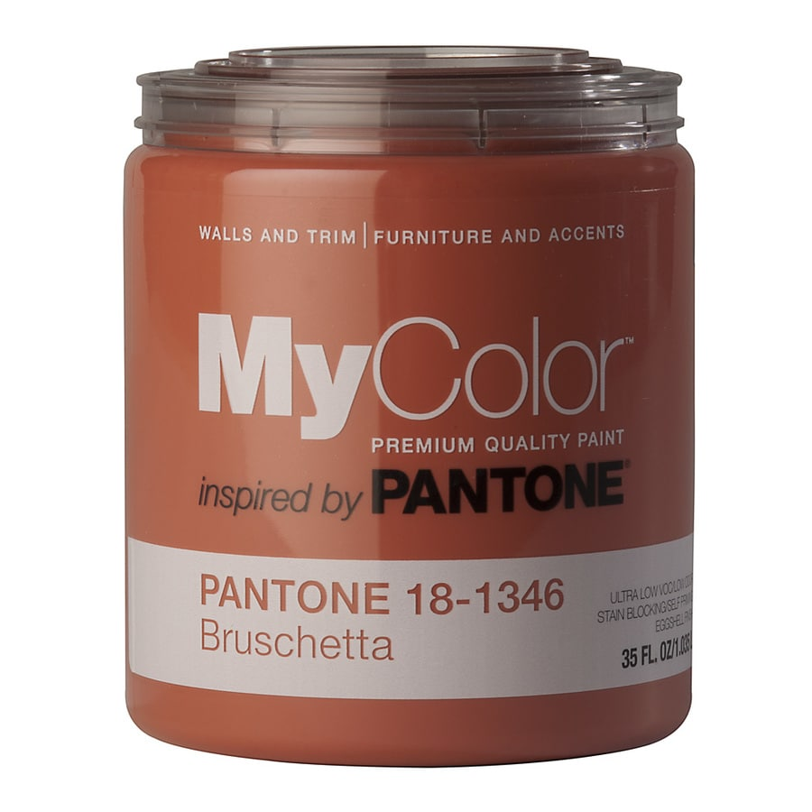 MyColor inspired by PANTONE 35-fl oz Interior Eggshell Bruschetta Water-Base Paint and Primer in One
