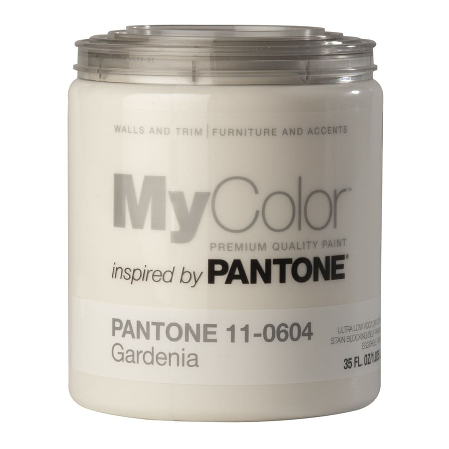 MyColor inspired by PANTONE 35-fl oz Interior Eggshell Gardenia Water-Base Paint and Primer in One