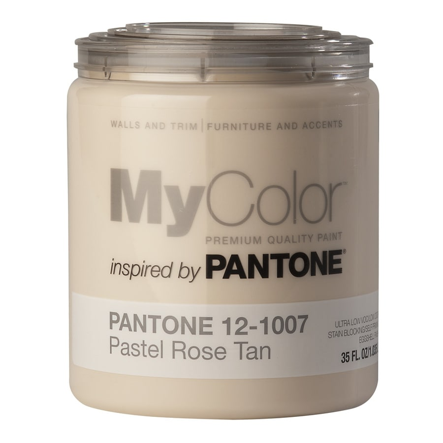 MyColor inspired by PANTONE 35-fl oz Interior Eggshell Pastel Rose Tan Water-Base Paint and Primer in One