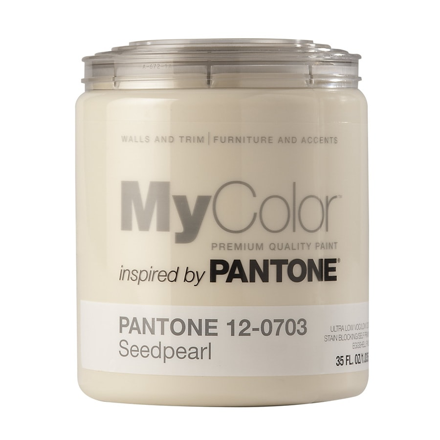 MyColor inspired by PANTONE 35-fl oz Interior Eggshell Seed Pearl Water-Base Paint and Primer in One