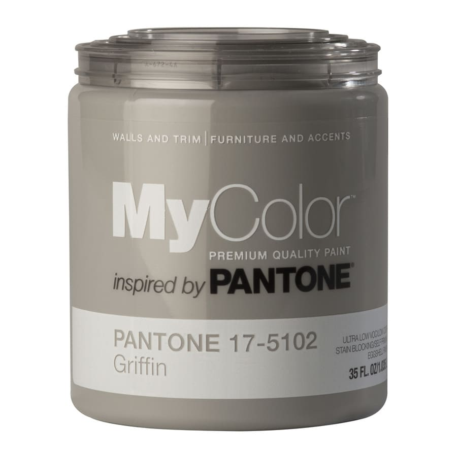 MyColor inspired by PANTONE 35-fl oz Interior Eggshell Griffin Water-Base Paint and Primer in One