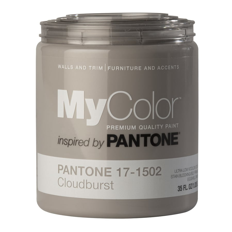 MyColor inspired by PANTONE 35-fl oz Interior Eggshell Cloudburst Water-Base Paint and Primer in One