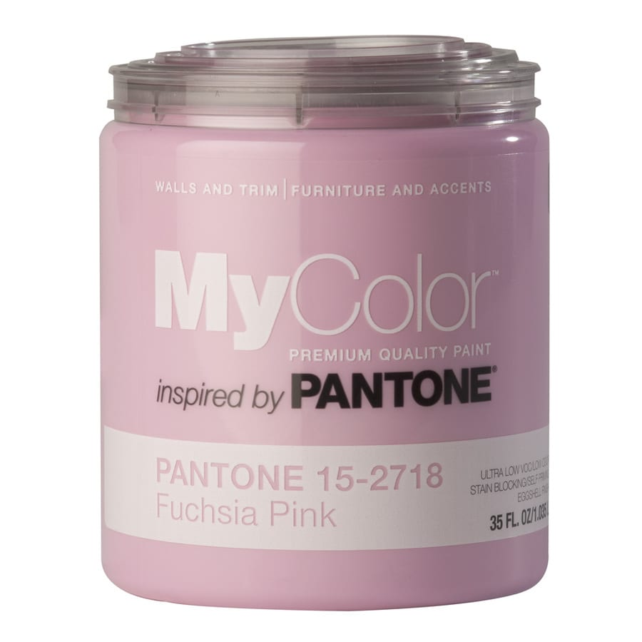 81f74a489155 MyColor inspired by PANTONE 35-fl oz Interior Eggshell Fuchsia Pink  Water-Base Paint and Primer in One