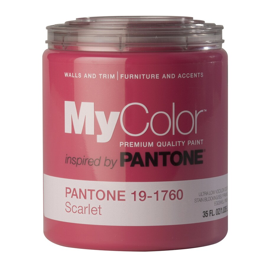 MyColor inspired by PANTONE 35-fl oz Interior Eggshell Scarlet Water-Base Paint and Primer in One