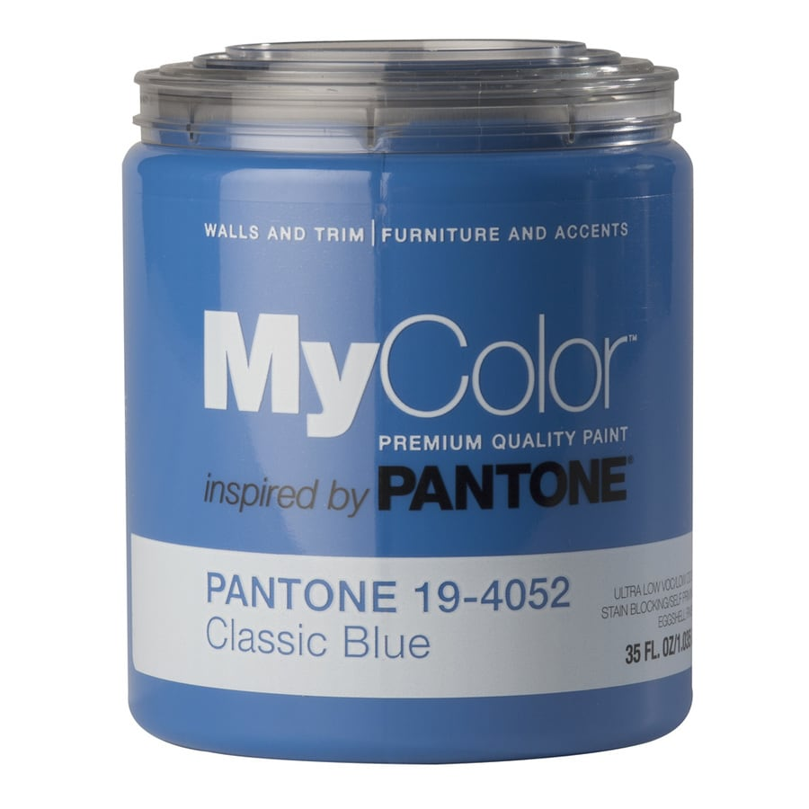 MyColor inspired by PANTONE 35-fl oz Interior Eggshell Classic Blue Water-Base Paint and Primer in One