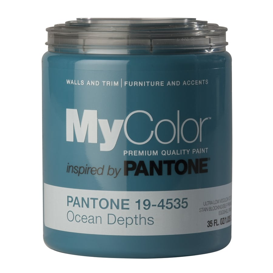 MyColor inspired by PANTONE 35-fl oz Interior Eggshell Ocean Depths Water-Base Paint and Primer in One