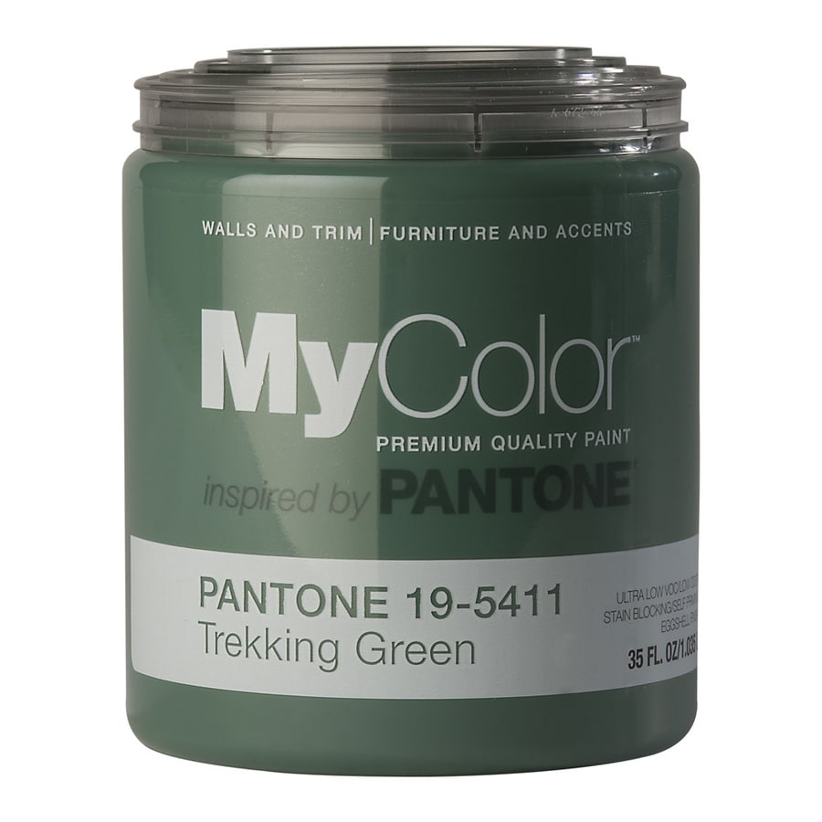 MyColor inspired by PANTONE 35-fl oz Interior Eggshell Trekking Green Water-Base Paint and Primer in One