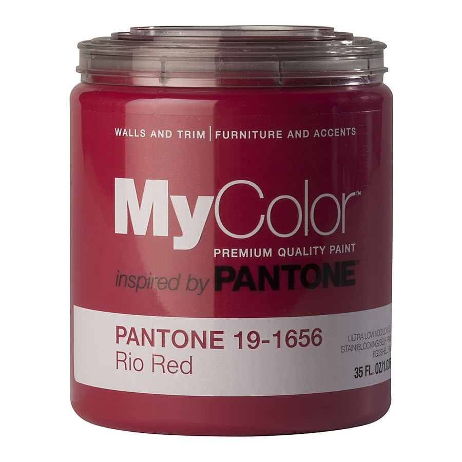 MyColor inspired by PANTONE 35-fl oz Interior Eggshell Rio Red Water-Base Paint and Primer in One