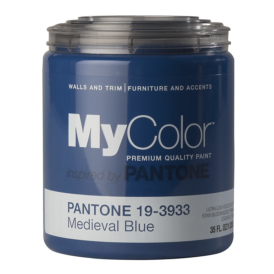 MyColor inspired by PANTONE 35-fl oz Interior Eggshell Medieval Blue Water-Base Paint and Primer in One