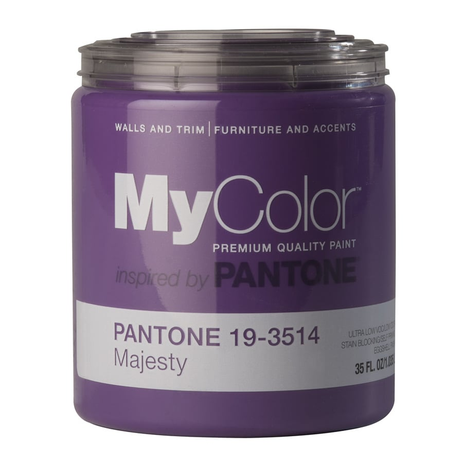 MyColor inspired by PANTONE 35-fl oz Interior Eggshell Majesty Water-Base Paint and Primer in One