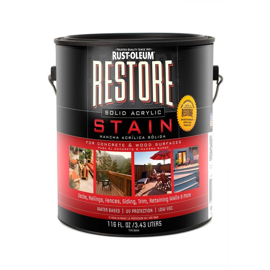 Rust-Oleum Tintable Tintable Solid Exterior Stain (Actual Net Contents: 116-fl oz)