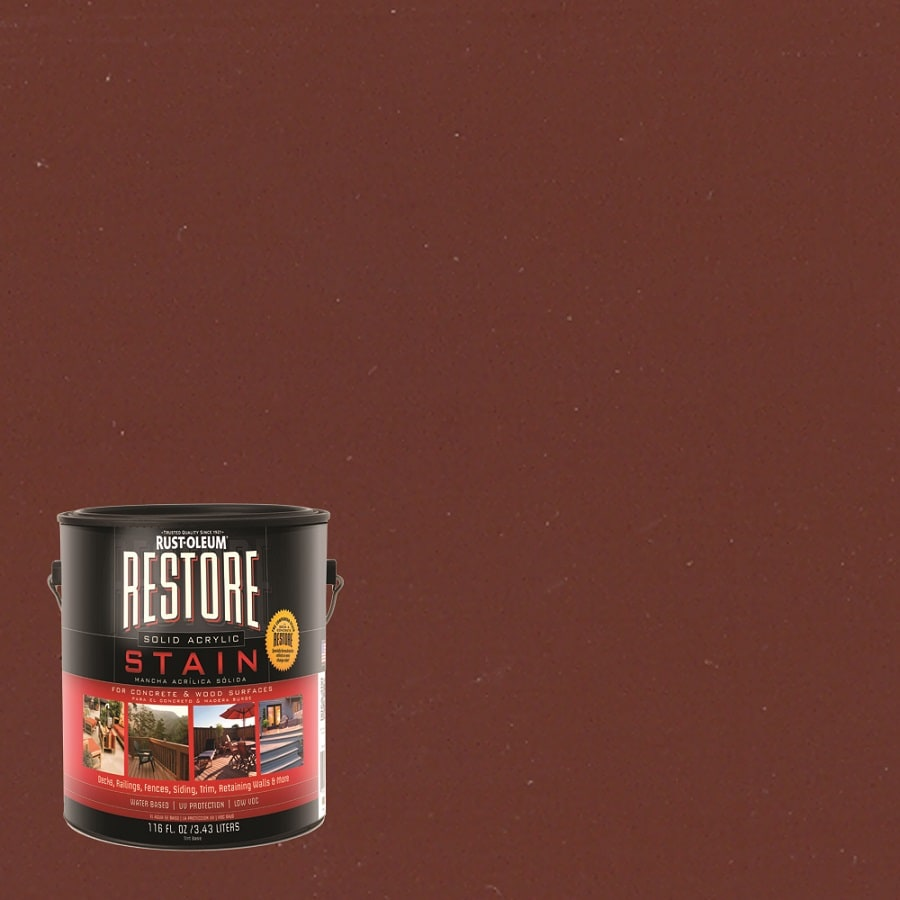 Shop Restore Gallon Brick Red Solid Exterior Stain At Lowescom - Brick dye lowes