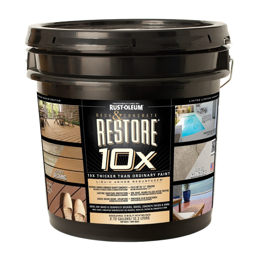 Shop Rust Oleum Tintable Tintable Solid Exterior Stain Actual Net Contents Oz At