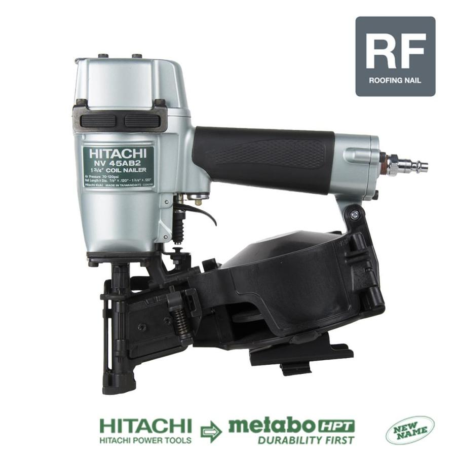 Hitachi 1 75 In 15 Degree Roofing Pneumatic Nailer At Lowes Com