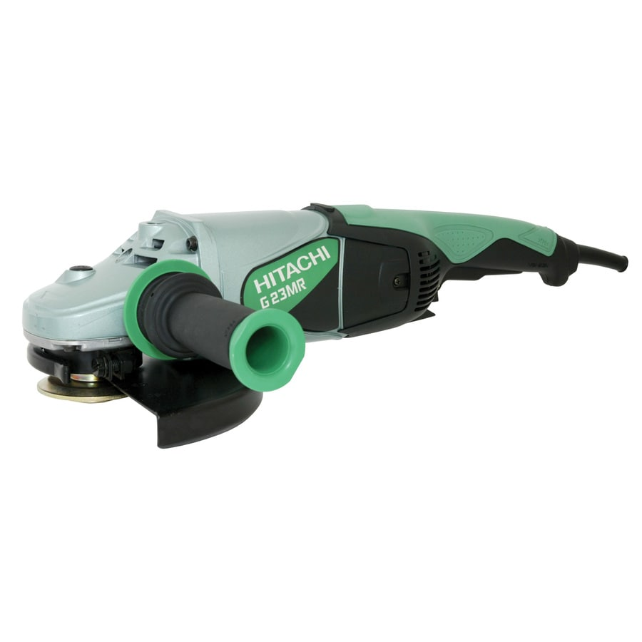 Hitachi 9-in 15-Amp Trigger Switch Corded Angle Grinder