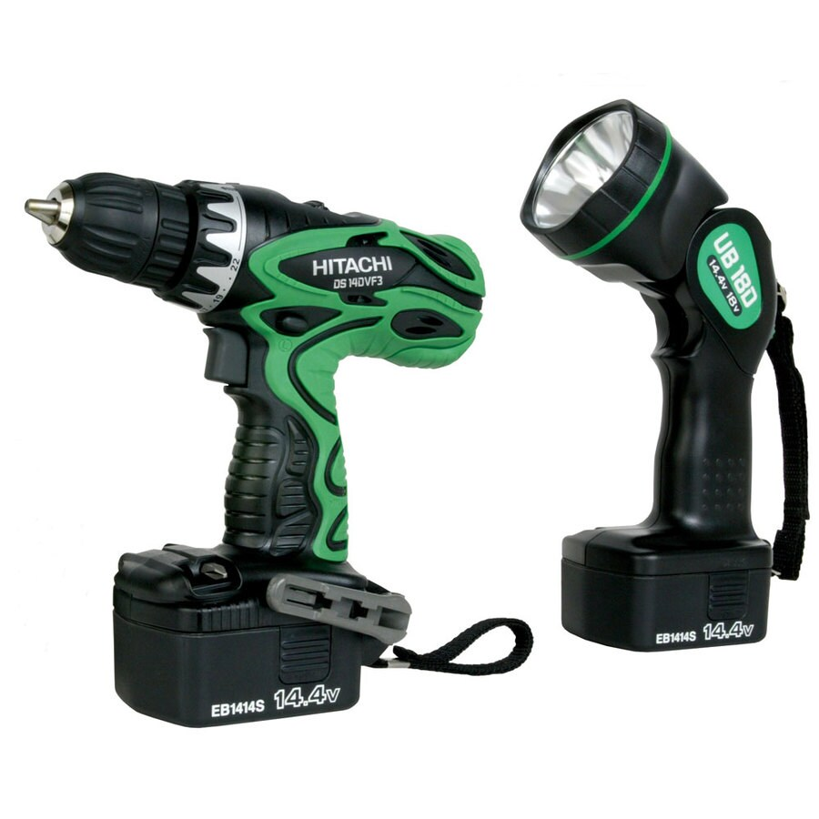 Hitachi 2-Tool 14.4-Volt Nickel Cadmium (Nicd) Brushed Motor Cordless Combo Kit with Hard Case