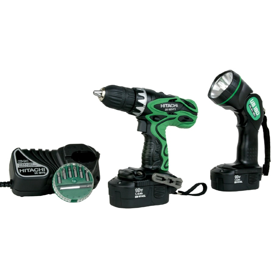 Hitachi 2-Tool 18-Volt Nickel Cadmium (Nicd) Brushed Motor Cordless Combo Kit with Hard Case