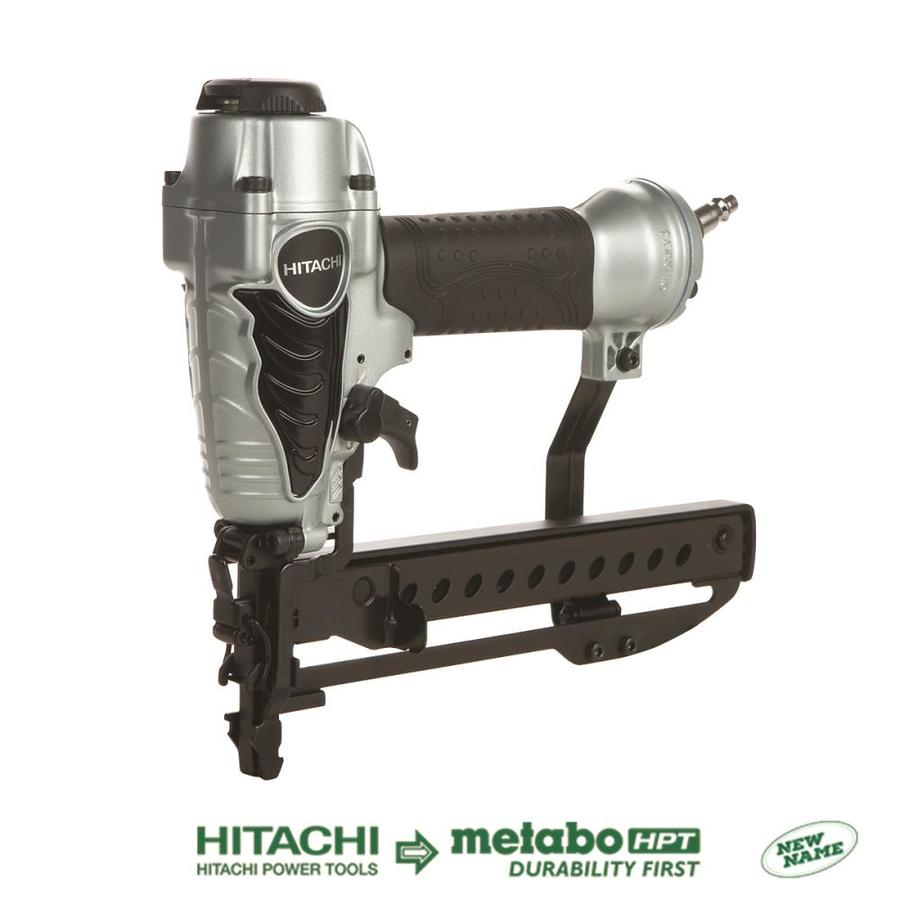 Shop hitachi 18 gauge 1 4 in crown pneumatic stapler at for 18 gauge floor stapler