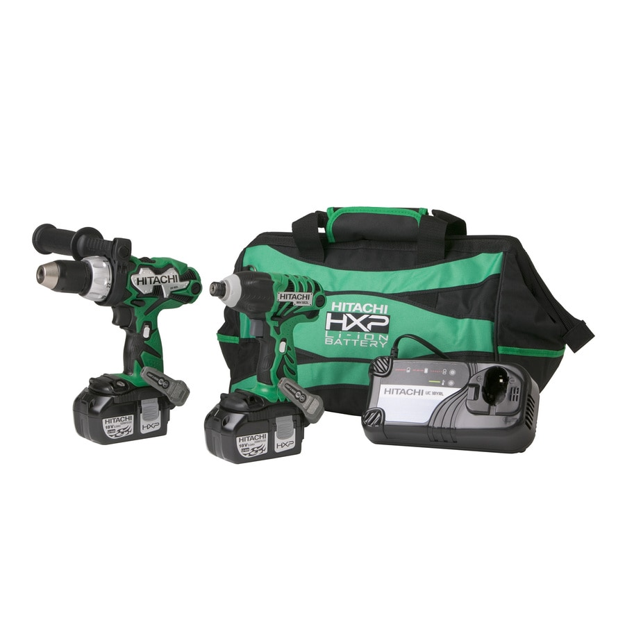 Hitachi 18-Volt Lithium Ion Compact Hammer Drill and Impact Driver Combo Kit
