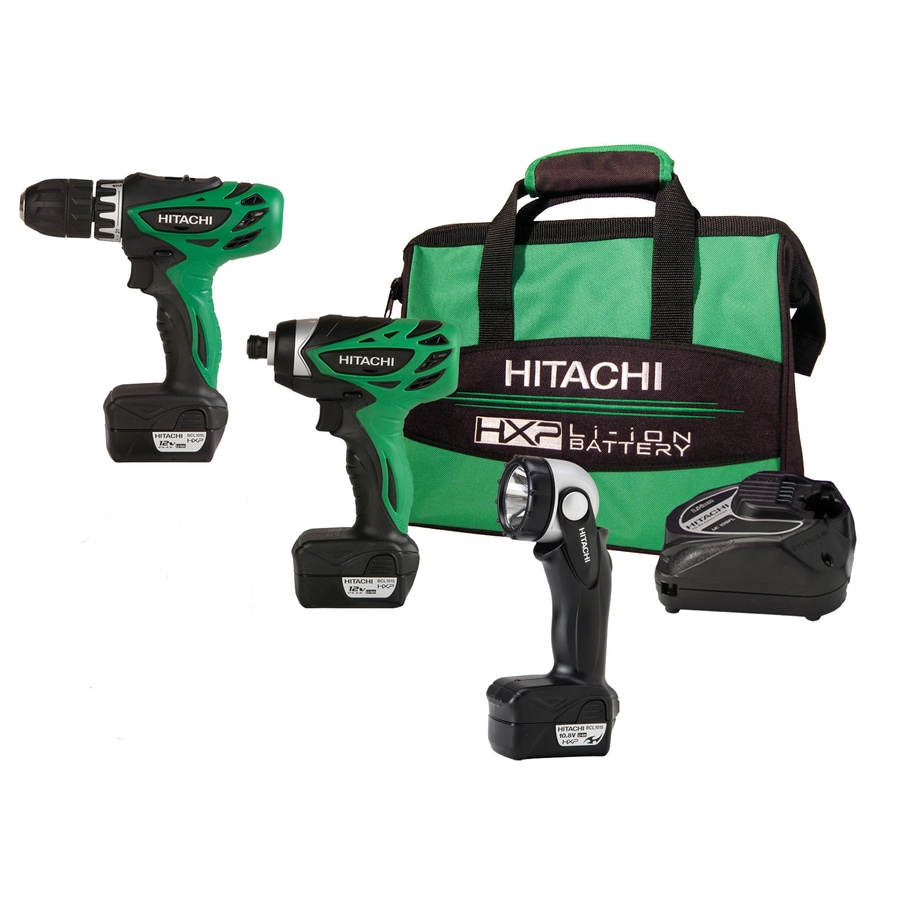 Hitachi 2-Tool 12-Volt Max Lithium Ion (Li-ion) Brushed Motor Cordless Combo Kit with Soft Case