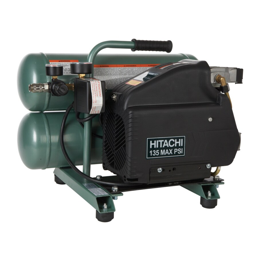Hitachi 4-Gallon Portable Electric Twin Stack Air Compressor