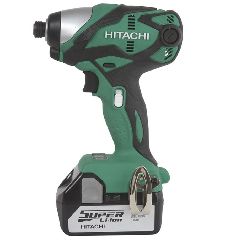 Hitachi 18DS 18-Volt Lithium Ion (Li-ion) 1/4-in Cordless Variable Speed Impact Driver with Hard Case